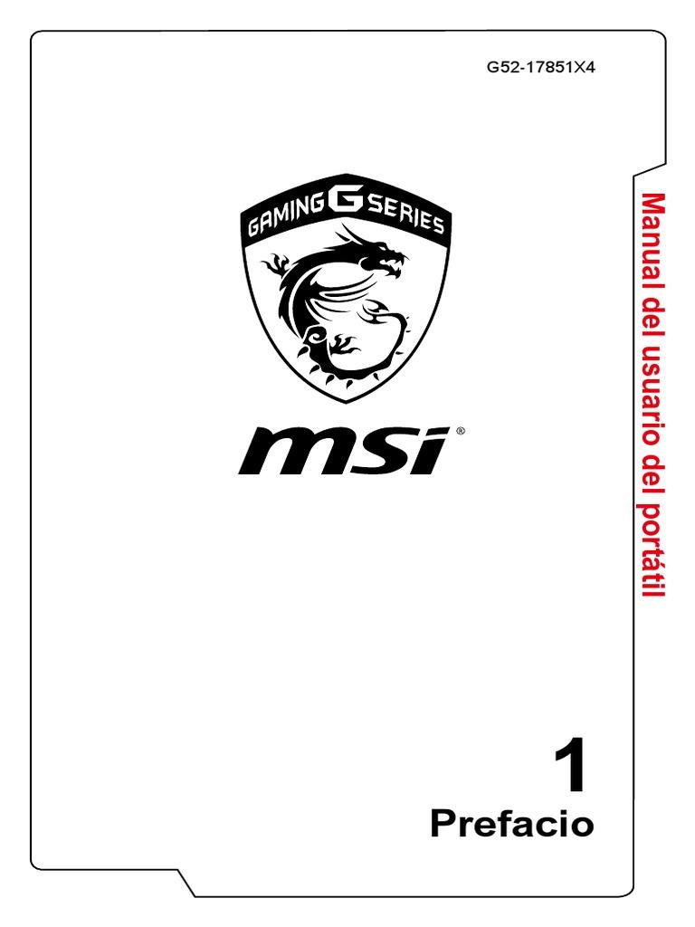 MSI GT72VR 7RE (Manual de Usuario)