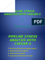 132941557 Pipeline Stress Analysis With Caesar II Ppt