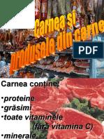 Carnea Si Produsele Din Carne