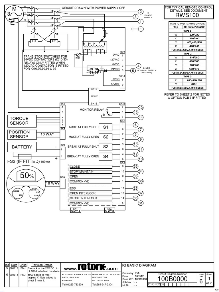 Rotork Wiring Diagram 3000