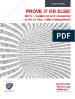 PROVE IT OR ELSE! Traceability – regulation and consumer demands on your data management