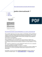 Justice Ou Injustice Internationnal