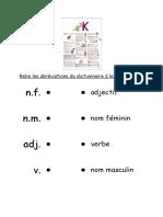Relie Les Abréviations Du Dictionnaire à Leur Signification