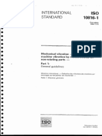 ISO-10816, 1st Edition, December 1995, Mechanical Vibration - Evaluation of Machine Vibration by Measurements on Non-Rotating Parts