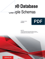Oracle Database Sample Schemas