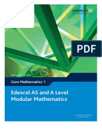Edexcel AS and A Level Modular Mathematics Core 1