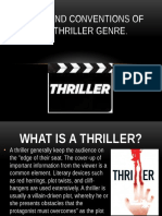 codes and conventions of the thriller genre new