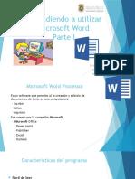 Aprendiendo a Utilizar Microsoft Word Parte I
