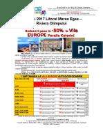 Oferta Vila Europe Paralia