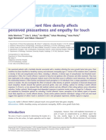 Reduced C-afferent fibre density affects perceived pleasantness and empathy for touch
