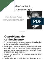 Introdução à Fenomenologia Prof. Felipe Pinho