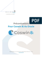Preconisation Coswin 8i Oracle v1