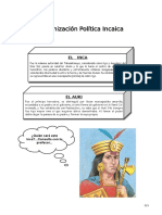 IV Bim - 1er. Año - H.P. - Guía 3 - Org. Política Incaica