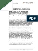 Pressemitteilung Hohlkammerplakate