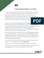 Habilitando Aplicações Delphi Para a Web Em 10 Minutes