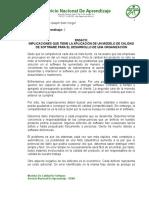 Ensayo, Implicaciones de Un Modelo de Calidad - Angelo Soto