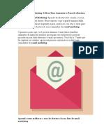 Lista de Email Marketing- 6 Dicas Para Aumentar a Taxa de Abertura