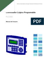 WEG Plc300 Manual Del Usuario 10001626215 Manual Espanol