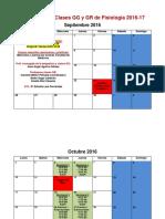Calendario Seminarios Fisiologia 2016-2017