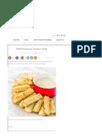 Baked Parmesan Zucchini Sticks - Jo Cooks