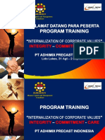 01. Training Conditioning - Internalisasi Corporate Values