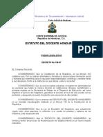 Ley Del Estatuto Del Docente Hondureño