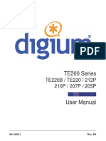 Te200 Series Digital Cards User Manual