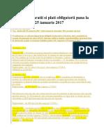 ANAF Declaratii si plati obligatorii pana la 20, respectiv 25 ianuarie 2017.docx