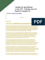 Estrategias de Aprendizaje y Mediaciión de Las TIC
