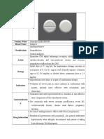 Clonidine Hydrochloride - Catares (Antihypertensive, Sympatholytic, Central Analgesic)