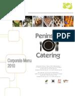 2010 Corporate Menu Peninsula