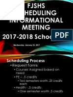 FJSHS Scheduling Night