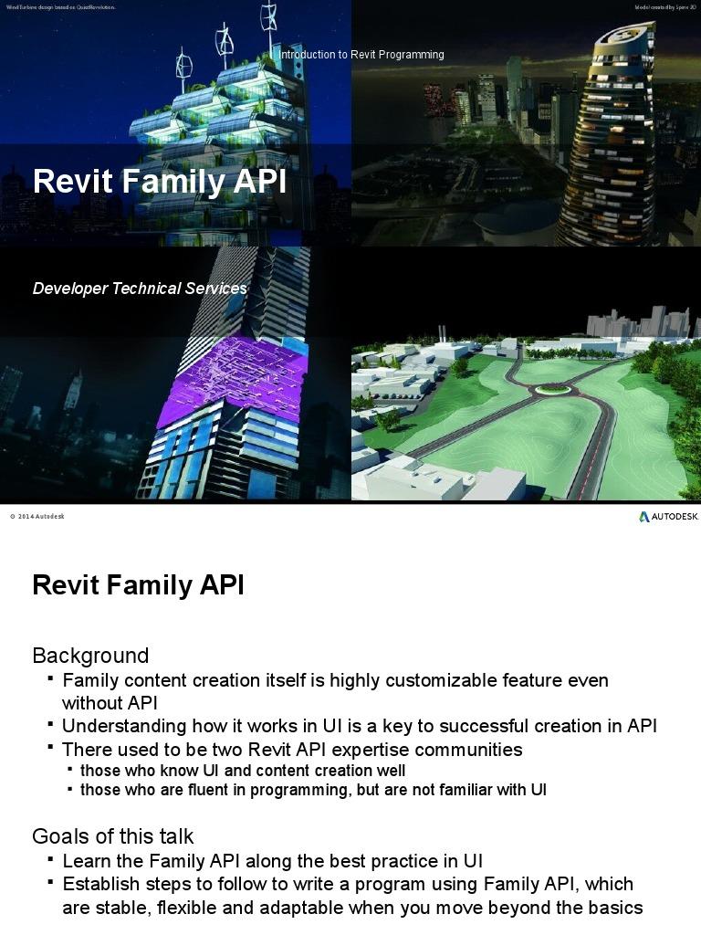 04-Revit API Programming- Families | Autodesk Revit