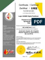 FLO 09-11-42 C001 Logix 3200MD IEC 61508 Certificate July 2010