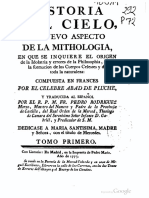 Historia Del Cielo, Tomo I. Abate Noël Antoine Pluche, 1773