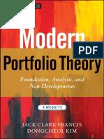 Modern Portfolio Theory - Jack Clark Francis