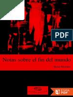 Notas Sobre El Fin Del Mundo - Rene Morales Hernandez