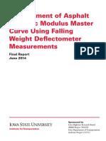 Development of Asphalt Dynamic Modulus Master Curve Using FWD Measurements