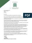 Tulip Siddiq Resignation letter