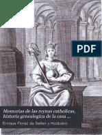 Memoria de Las Reynas Catholicas, Tomo II. Enrique Florez, 1770