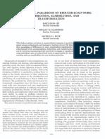 Organizational Paradigms of Reduce Load Work