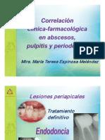 Correlacion Clinico Farmacologica en Abscesos Pulpitis y Periodontitis Mtra Teresa Espinosa