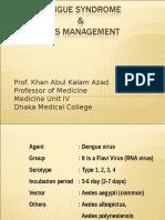 Dengu Syndrome & Its Managment.prof. Kaka1