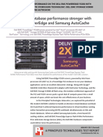 SQL Server 2016 database performance on the Dell EMC PowerEdge FC630 QLogic 16G Fibre Channel with StorFusion Technology, Dell EMC Storage SC9000 all-flash array, and Samsung AutoCache