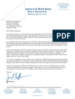 Rep. Jared Huffman's Letter to UC President Janet Napolitano