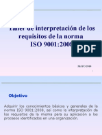 Taller de Interpretación de Los Requisitos de La Norma ISO 9001-2008