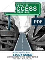 Certified Strength & Conditioning Specialist (CSCS) Exam Study Guide