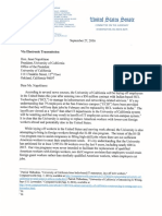 Sen. Chuck Grassley's Letter to UC President Janet Napolitano Regarding UCSF Layoffs