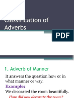 Classifications of Adverbs Ppt
