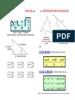 Trigonometria en Triangulos Rectangulos y Oblicuangulos